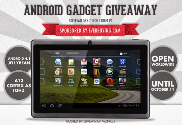 Android Tablet Gadget Worldwide Giveaway
