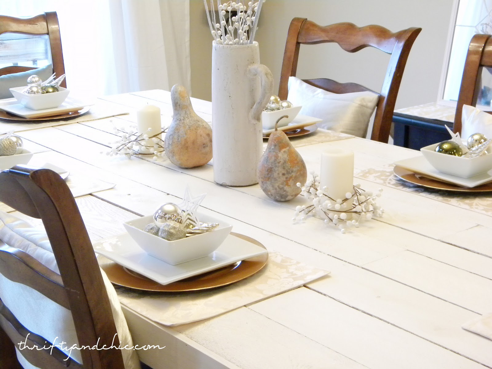 thrifty and chic diy projects and home decor it s like a warm winter wonderland unless the hubs has a hand in it i m using a lot of white and touches of pearl silver and shiny sparkly things