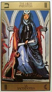La Sacerdotisa. Tarot de Dali
