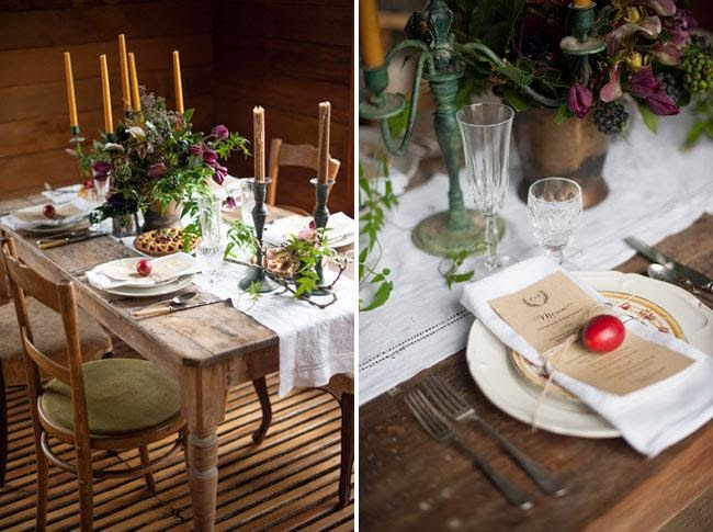 rustic winter wedding idea