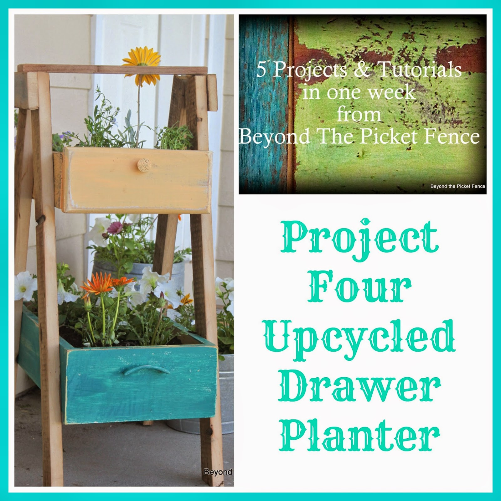 5 projects in a week project 4 upcycled drawer planter http://bec4-beyondthepicketfence.blogspot.com/2014/05/5-projects-in-week-project-4-upcycled.html