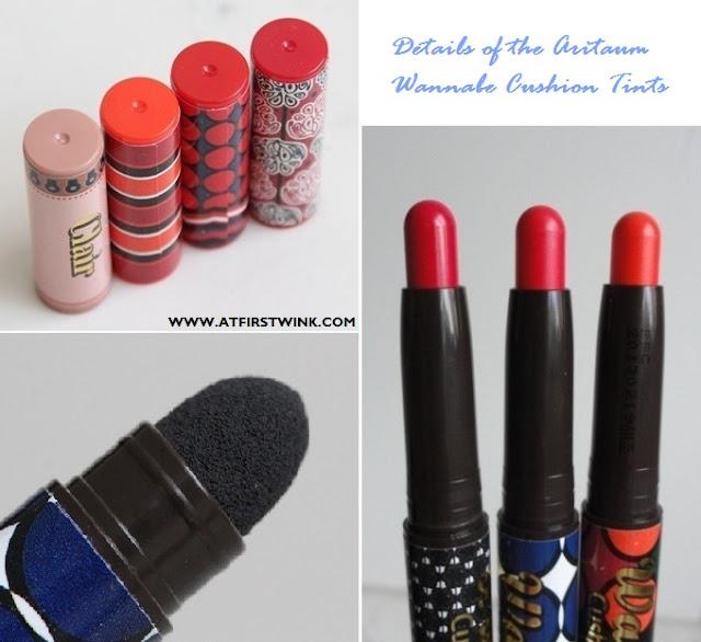details of the Aritaum wannabe cushion tints