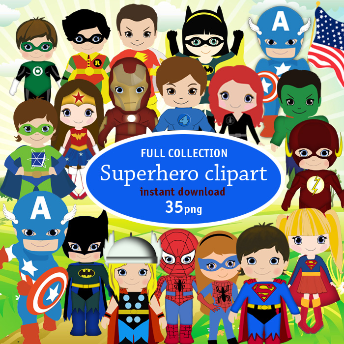 Craft ideas superhero clipart for created invitation birthday,cupcake