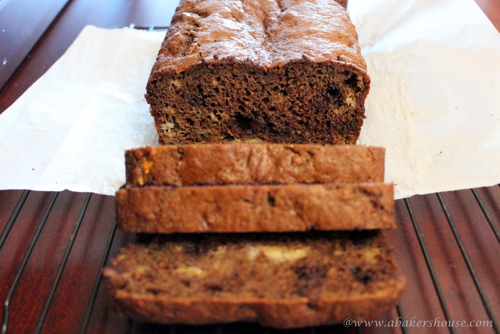 Chocolate-Chocolate Chip Banana Bread