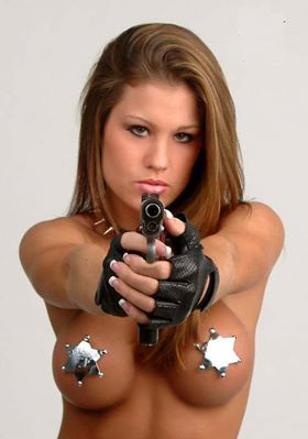 hot naked women and guns