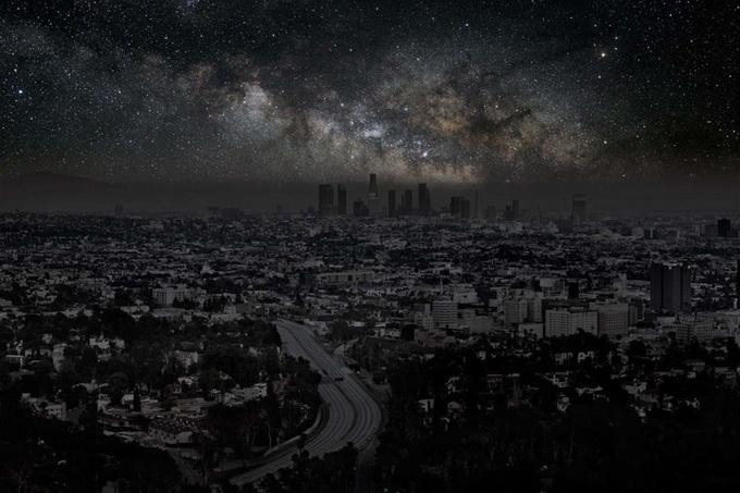 фотография темный город