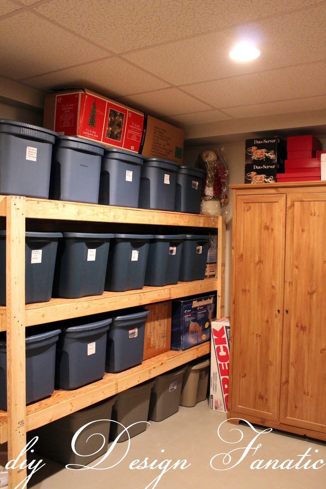 Diy design fanatic diy storage how to store your stuff for Basement storage ideas
