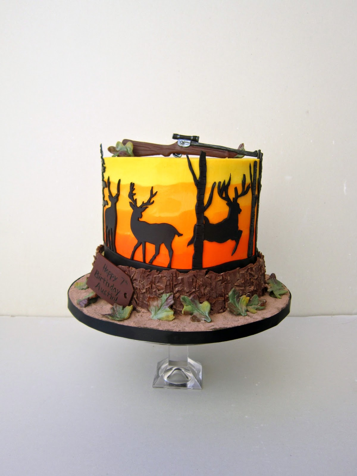 Delectable Cakes Deer Hunting Birthday Cake