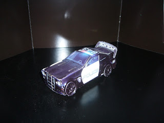 maqueta de papel del coche de policia barricade de transformers