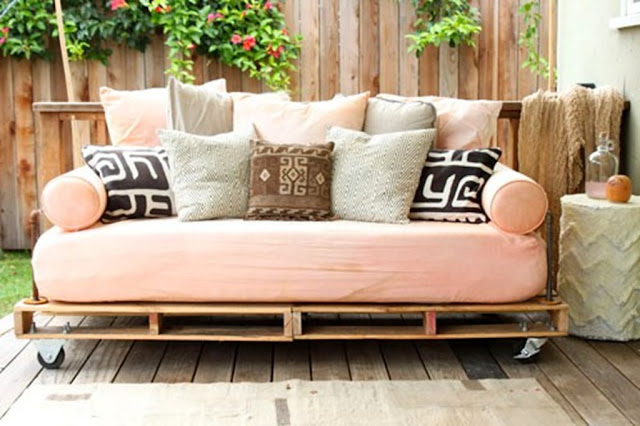 home decor with crates and pallets - garden decor