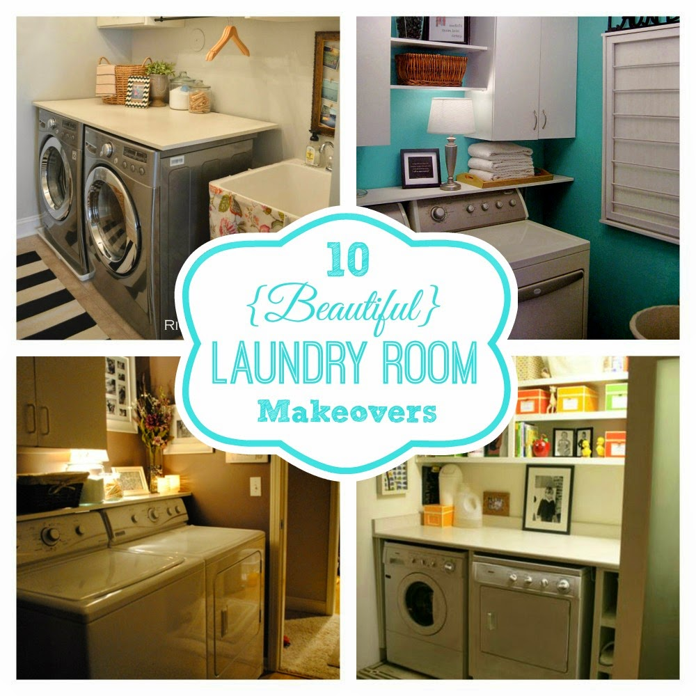 Round Up Monday 10 Beautiful Laundry Room Makeovers