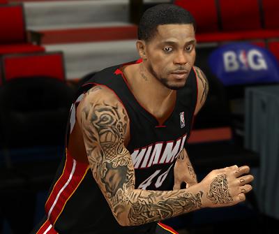 NBA 2K14 Udonis Haslem Cyberface Mod