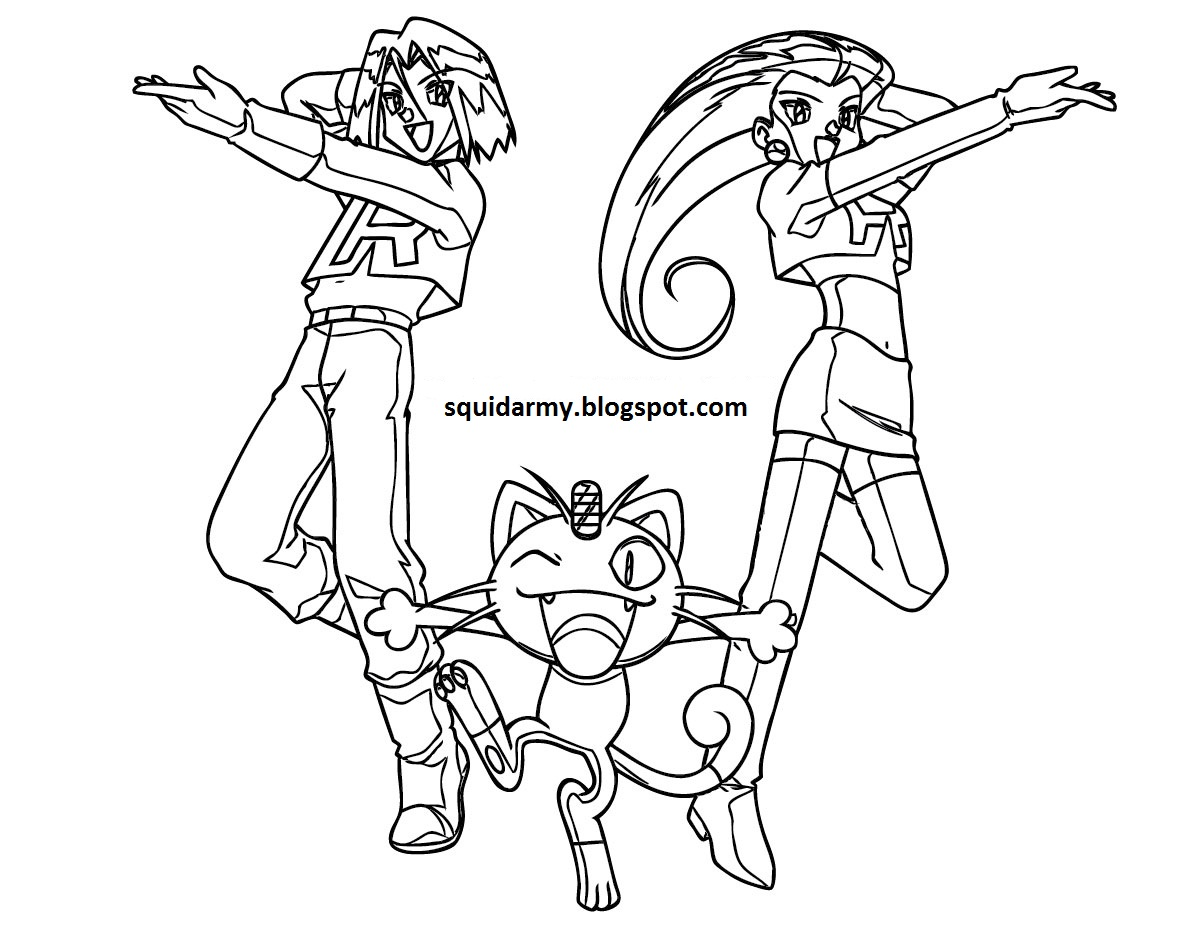 pokemon coloring pages - team rocket