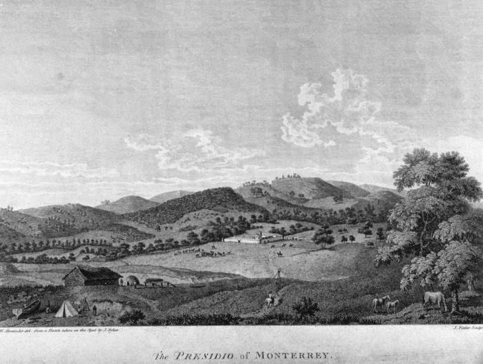 Presidio Of Monterrey Early 1800's Etching