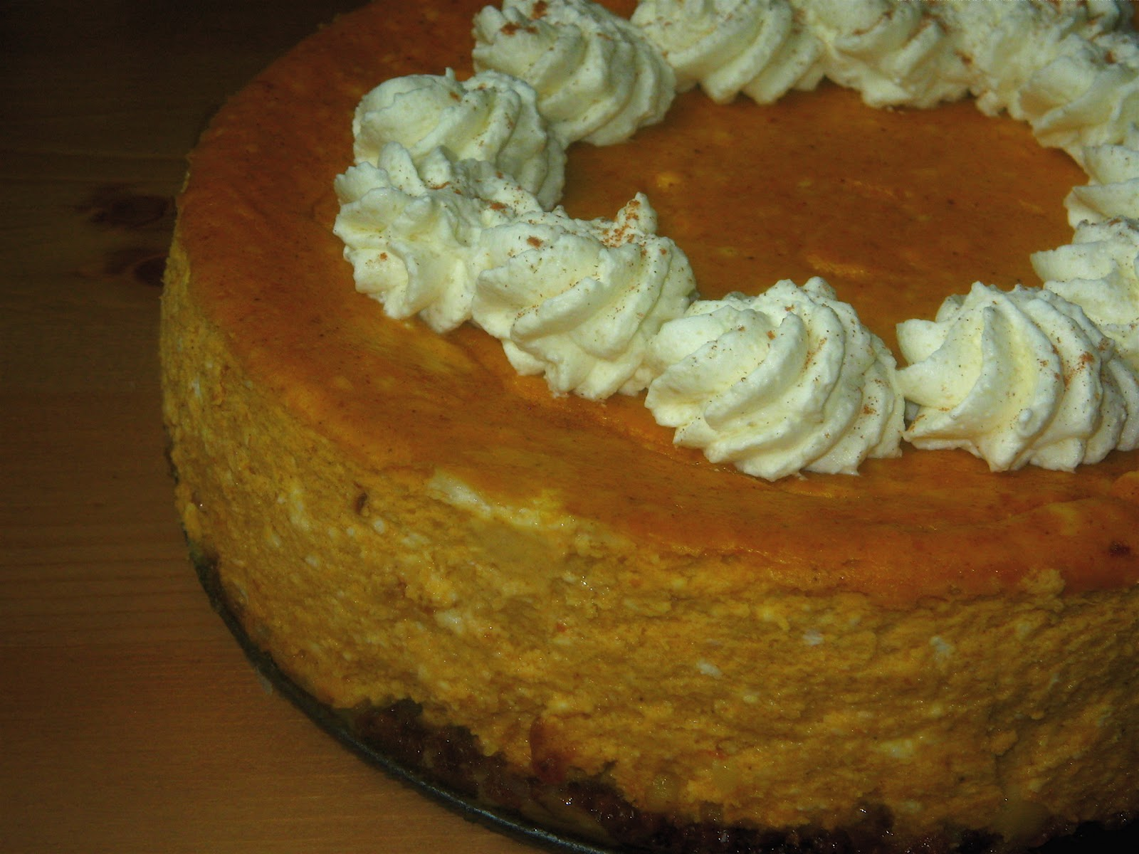 A Full Life: Pumpkin Cheesecake: The New Pumpkin Pie