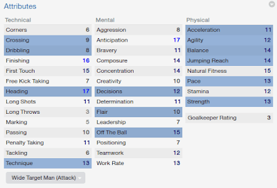 FM14 Player attribute Wide Target Man