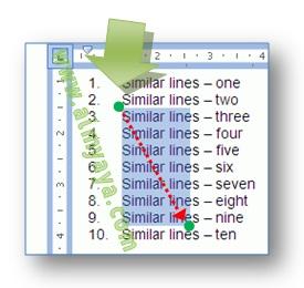 Gambar: cara mudah seleksi teks menggunakan mouse dan tombol ALT di  microsoft word