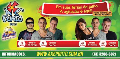 O epicentro do agito vai ser o evento Axé Porto 2013, que em sua 6ª edição vai fazer a fusão do axé da Bahia com o funk do Rio de Janeiro