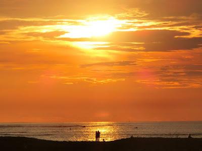 Sunset at Bali Garden Beach Resort, Kuta
