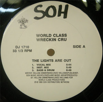 World Class Wreckin Cru ‎– The Lights Are Out / World Class Bar-B-Que (VLS) (1990) (320 kbps)