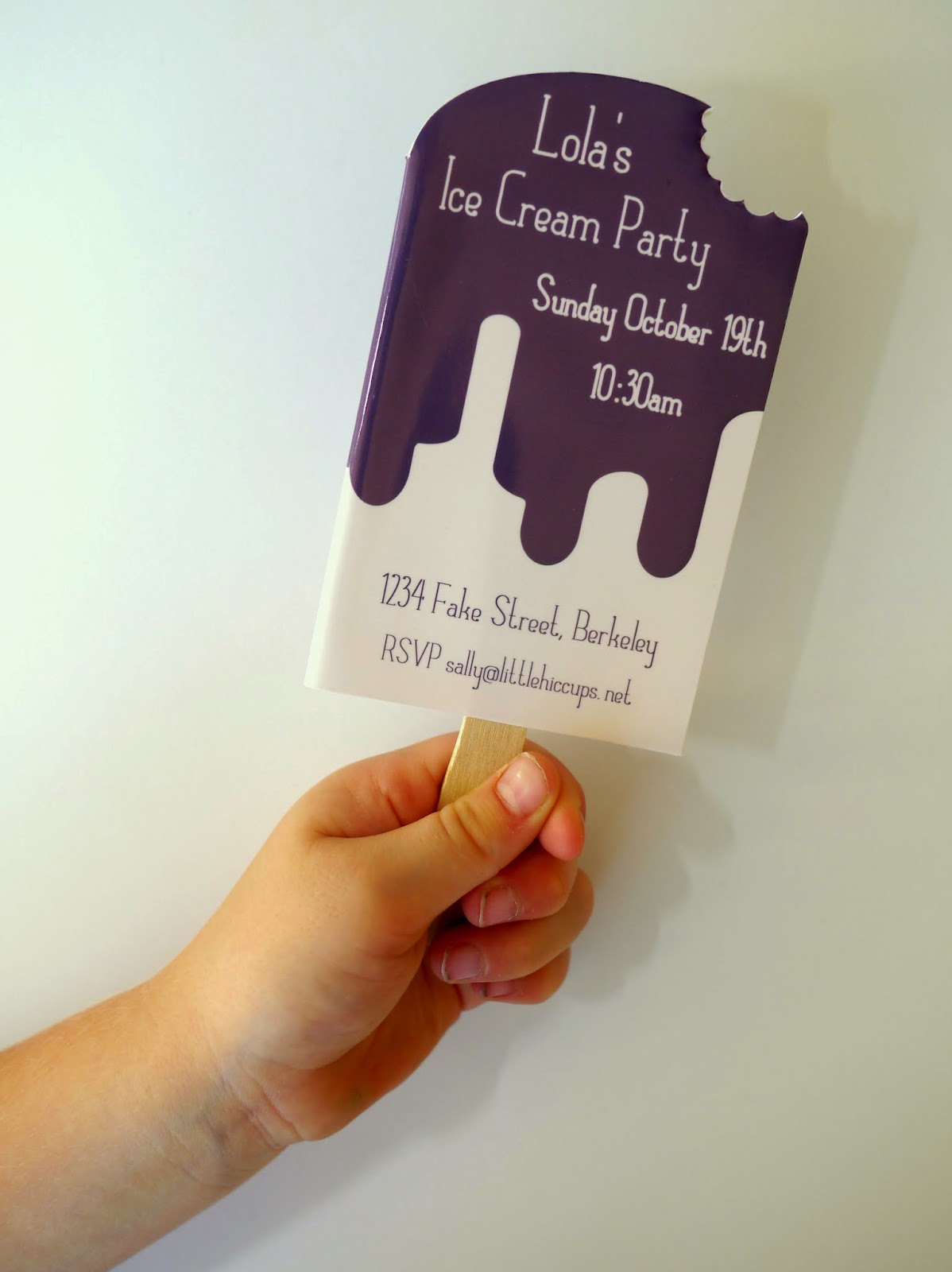 Little Hiccups: Ice Cream Party Invites