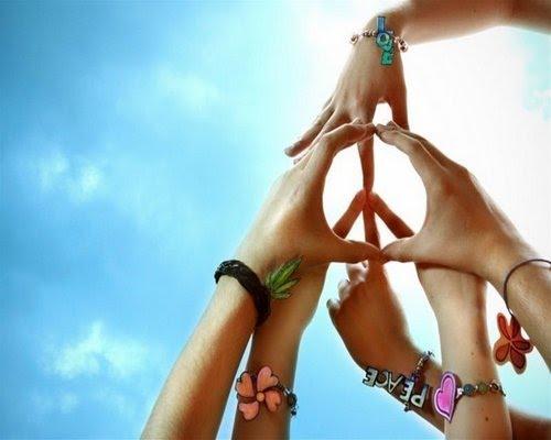paz e amor simbolo. Símbolos: Paz e Amor
