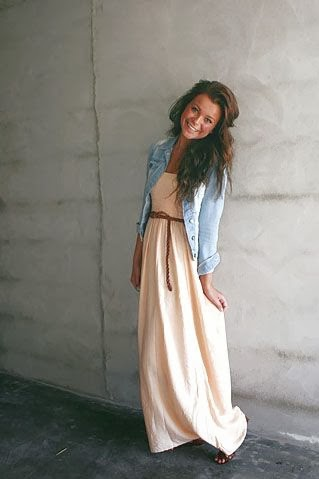 Maxi + Oxford shirt! Cute Cute Cute