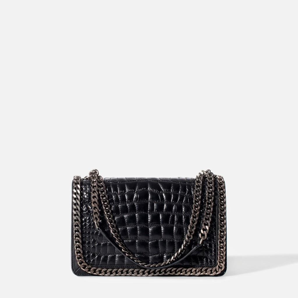 Bag, bolso Zara gravado coco cadena, bagadict, street style, fashion style