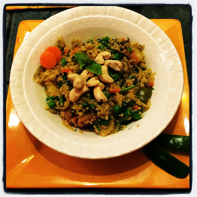 Vegan Quinoa with Fresh Vegetables and Herbs