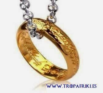 Replica anillo único con cadena de El Hobbit y El Señor de los Anillos
