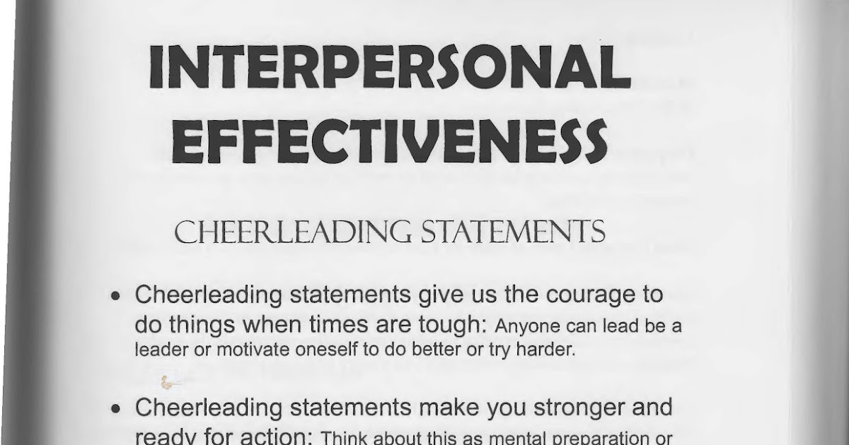 interpersonal effectiveness portfolio Home essays bsb124 portfolio bsb124 portfolio topics: 4_intrapersonal effectiveness_ 6_interpersonal effectiveness_.