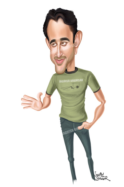 Imran Khan bollywood actor cartoon caricarture