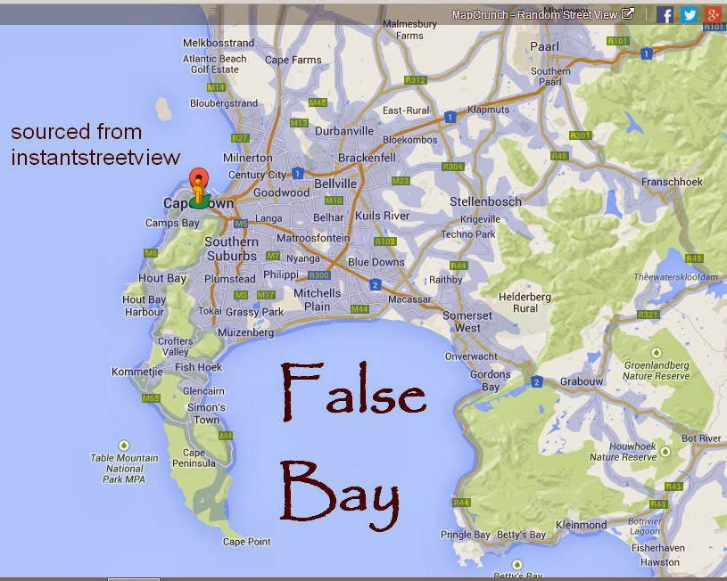 False Bay, Cape Town, South Africa map