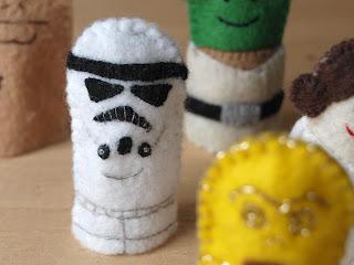 Star Wars felt finger puppets, handmade by Joanne Rich.