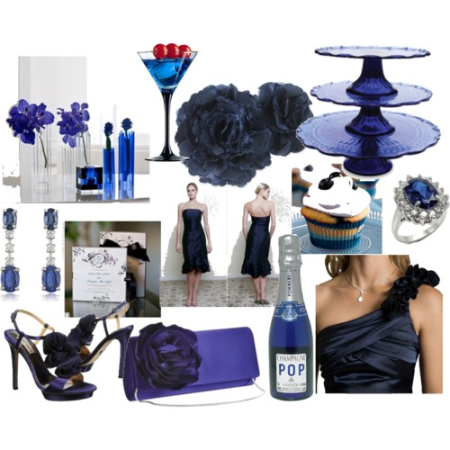 Try out these beautiful ideas for sapphire blue September weddings