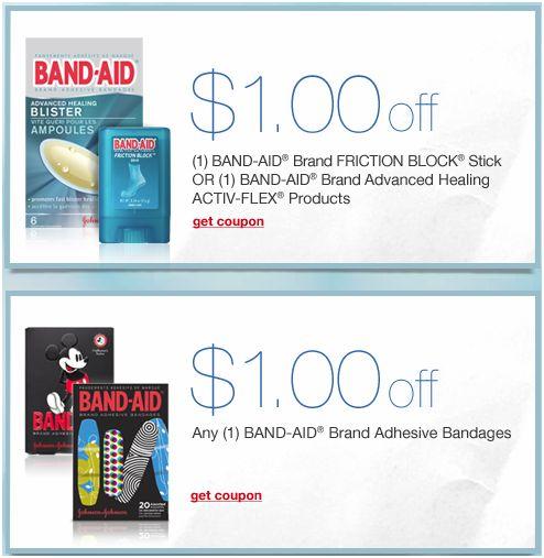 Band aid coupons