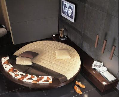 habitaciones con cama redonda