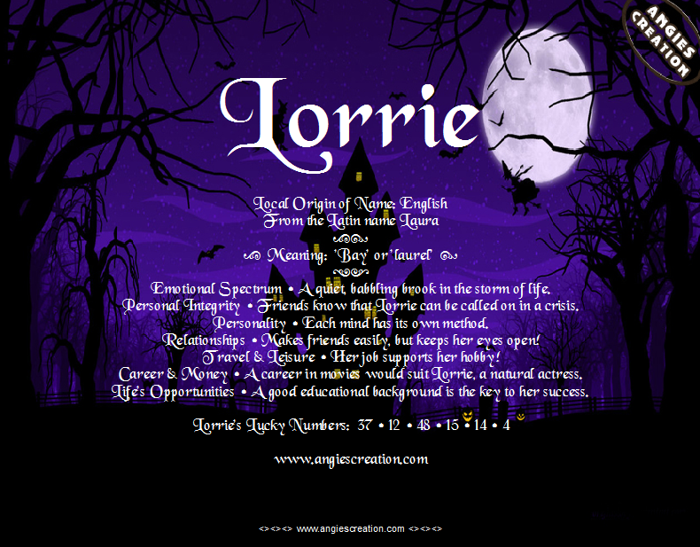 The meaning of the name - Lorrie