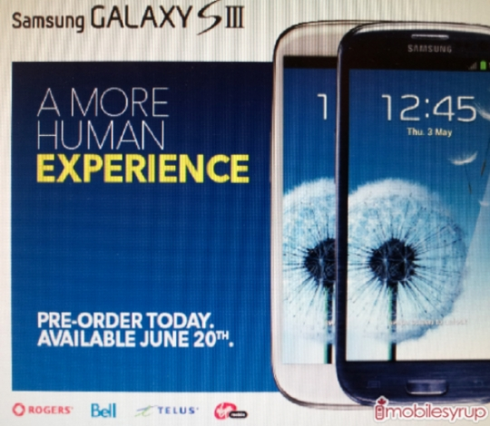 Samsung Galaxy S III may hit US and Canada on June 20