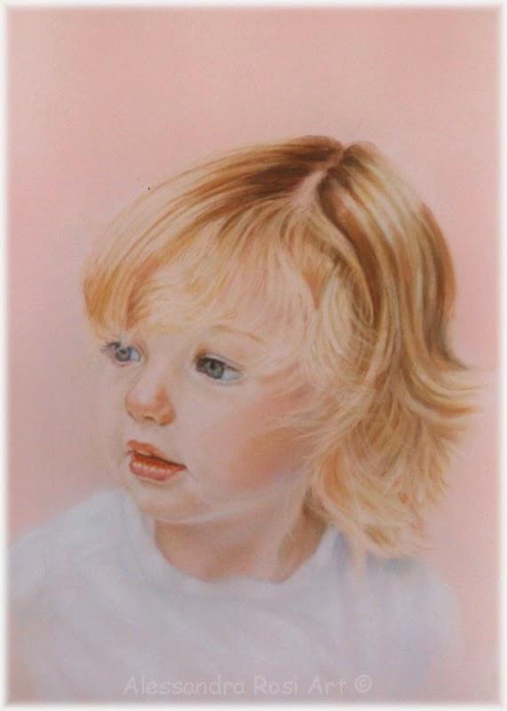 child paintings portraits, baby's portrait painting, painted child portrait