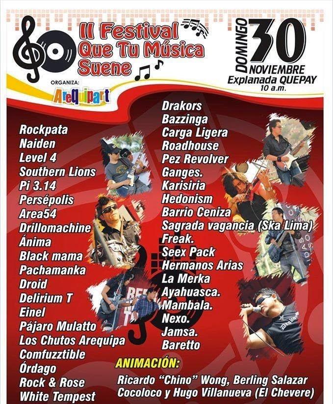 II Festival 'Que tú música suene' - 30 de noviembre