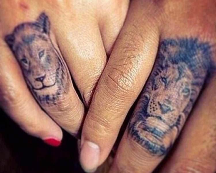 Татуировка для влюбленных фото