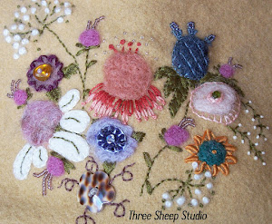 Needle Felted Flowers...