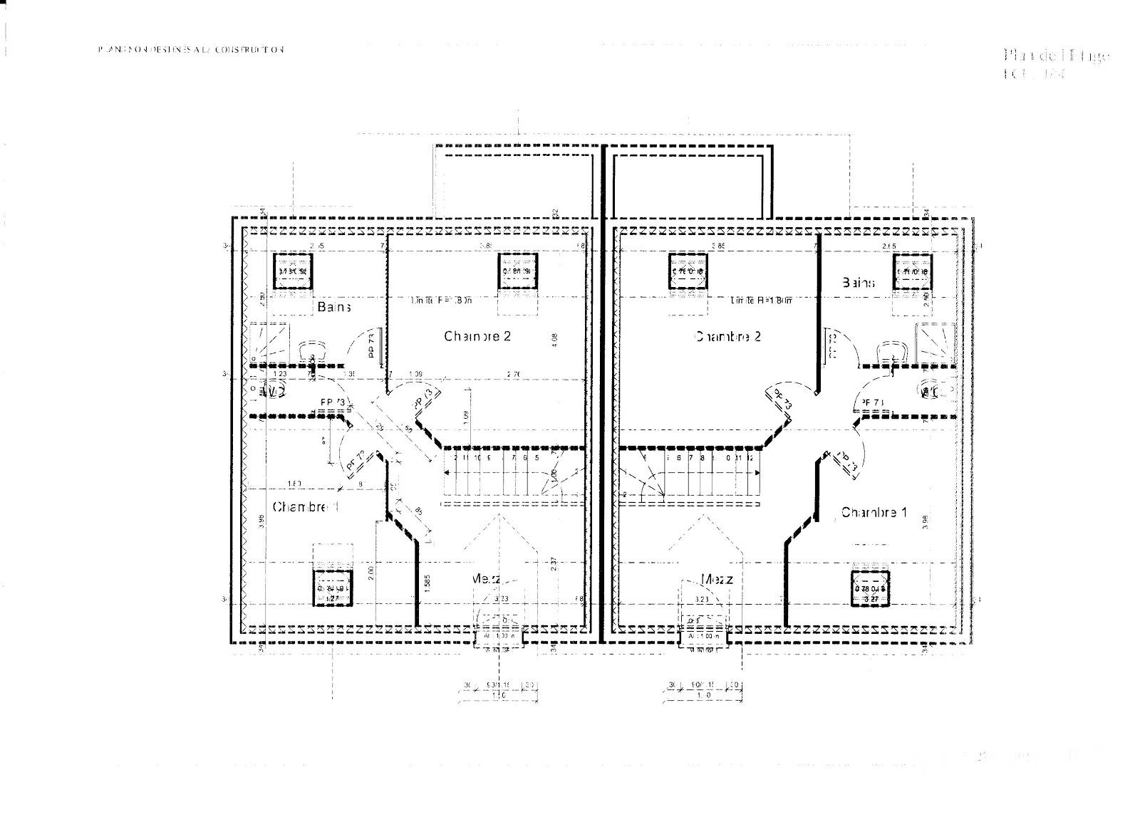 Plan De Maison En L Architecte Paca With Plan Maison M Chambres With Plan  Maison 60m2