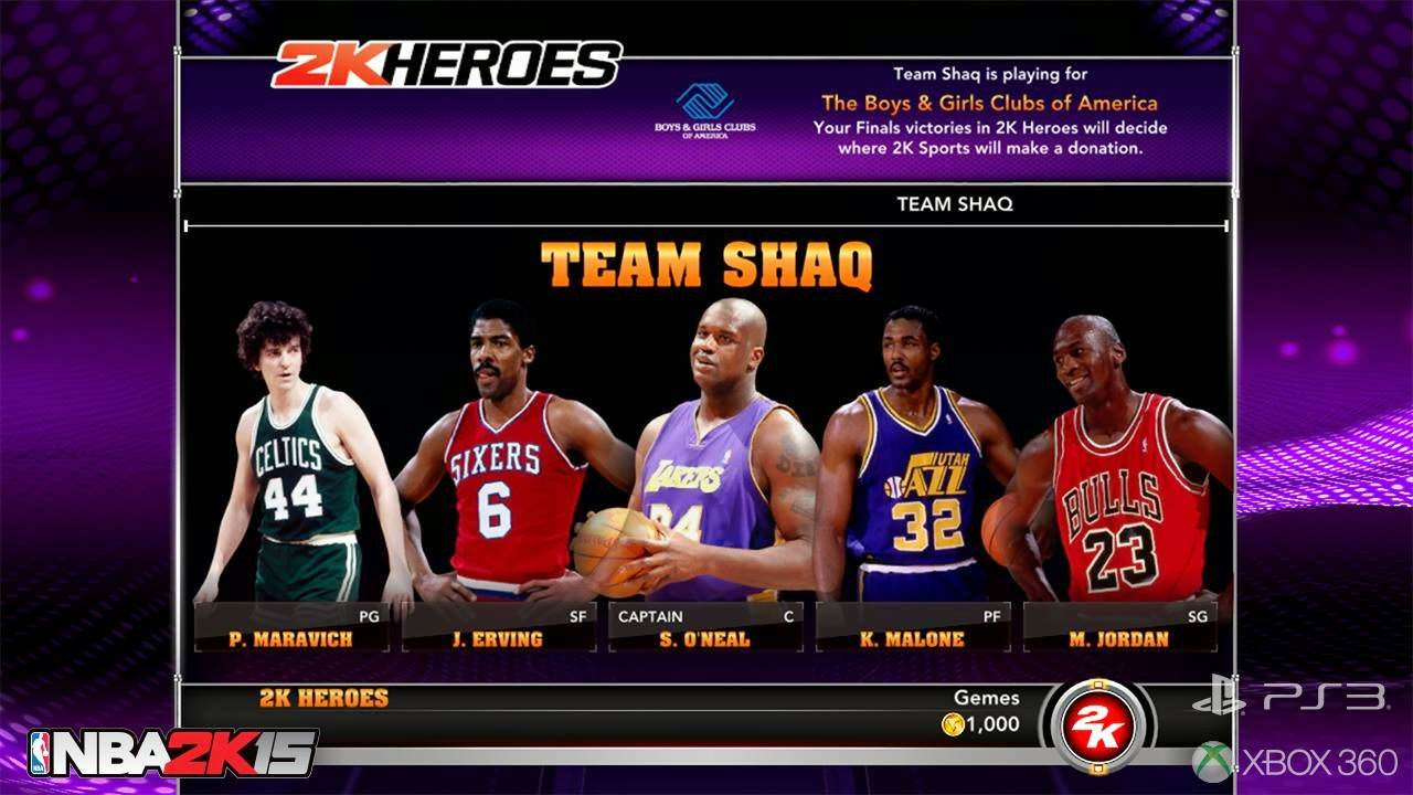 NBA 2k15 2k Heroes Mode : Team Shaq