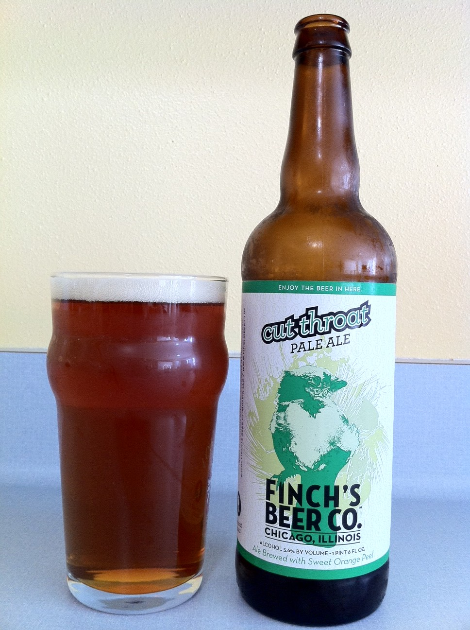 Wisconsin beer geek cut throat pale ale finch s beer co for How to cut a beer bottle at home