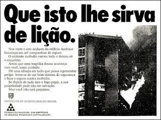 Incêndio no Edifício Andraus, 1972; os anos 70; propaganda na década de 70; Brazil in the 70s, história anos 70; Oswaldo Hernandez;