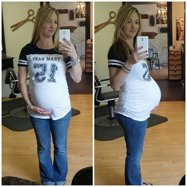 37 weeks pregnant belly pic