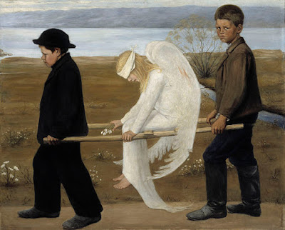 http://commons.wikimedia.org/wiki/File:The_Wounded_Angel_-_Hugo_Simberg.jpg?uselang=el