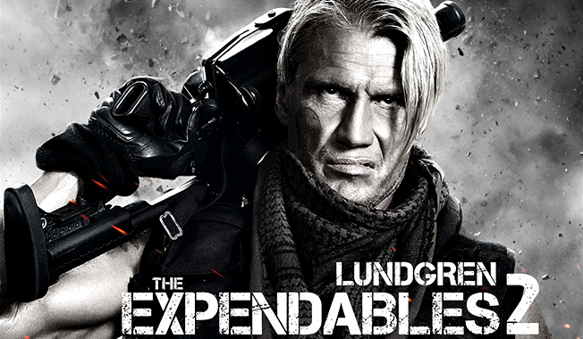 Movie Review The Expendables 2 posters lundgren chuck norris
